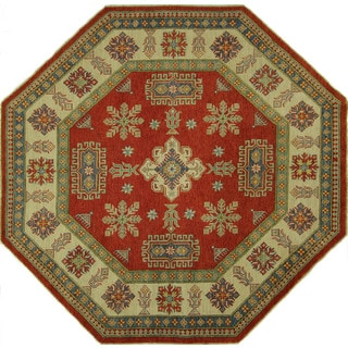 Octagon Red Super Kazak Hand-knotted Wool Area Rug (8' x 8', 8')