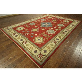 New Perisan Style Hand-knotted Red Super Kazak Wool Area Rug (8' x 12')