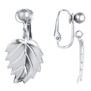 Dangle Leaf Clip On Earrings