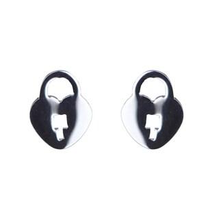 Heart Lock Stud Earrings