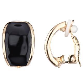 Black Half Hoop Clip On Earrings|https://ak1.ostkcdn.com/images/products/10507740/P17599194.jpg?impolicy=medium