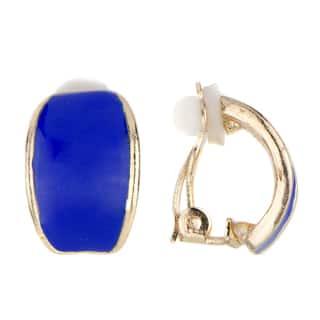 Blue Half Hoop Clip On Earrings|https://ak1.ostkcdn.com/images/products/10507743/P17599197.jpg?impolicy=medium