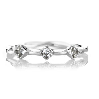 Brass CZ Infinity Charm Petite Stackable Ring Band