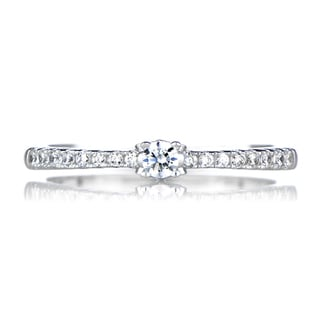 Sterling Silver Petite Cubic Zirconia Promise Ring