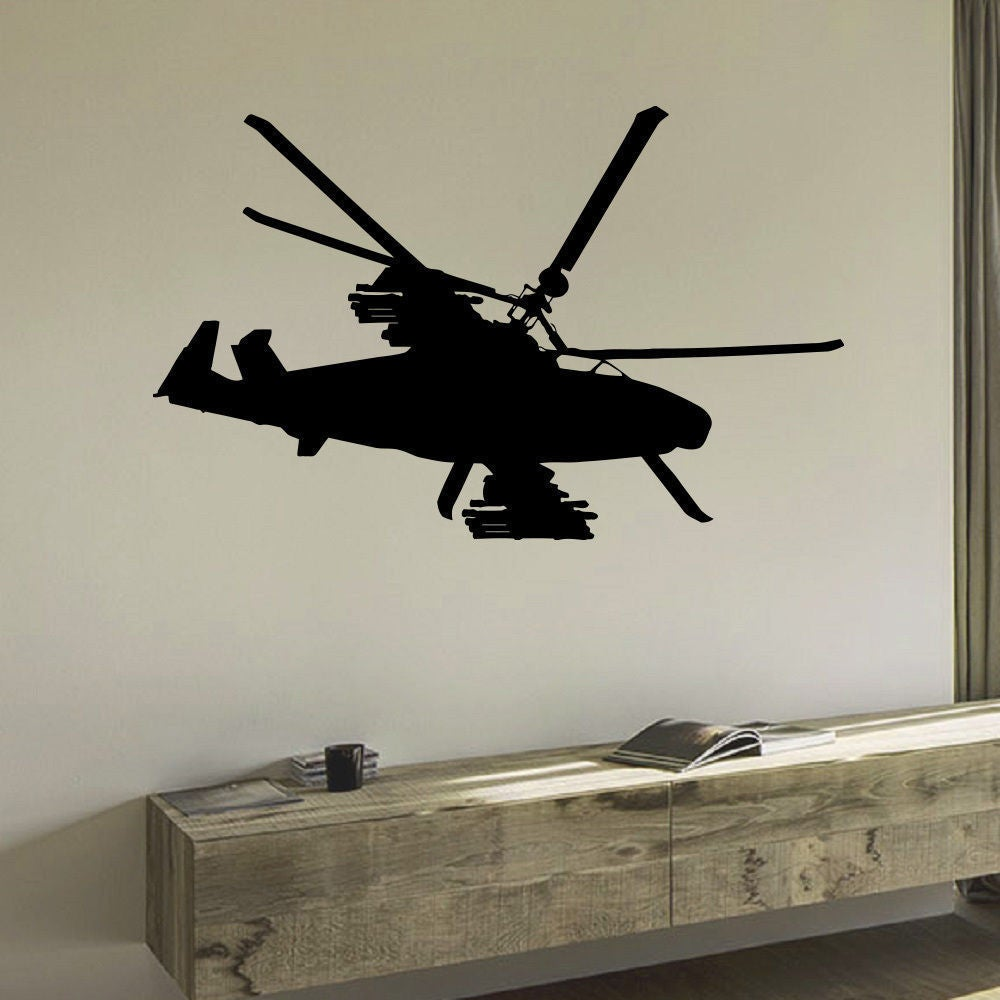 Military Helicopter Army Air Force Vinyl Wall Art Decal S...