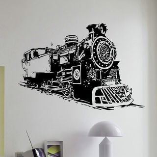 Vintage Antique Train Nursery Vinyl Wall Art Decal Sticker
