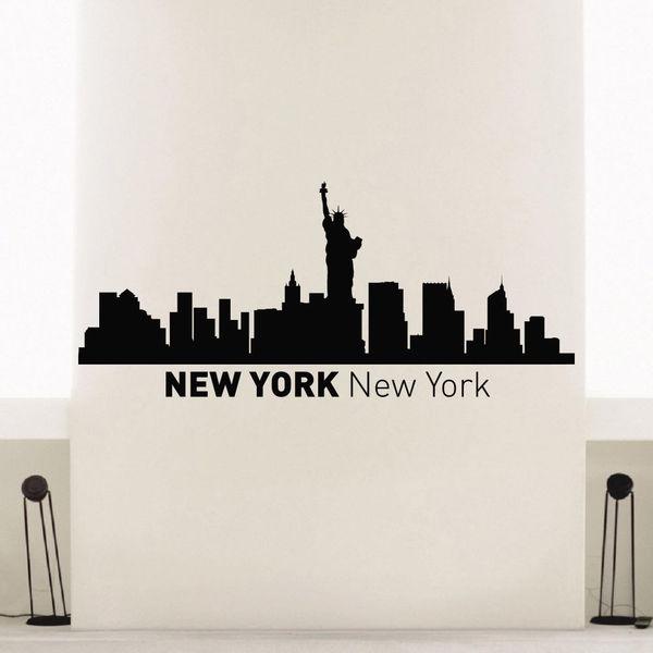 Shop New York Ny Skyline City Silhouette Vinyl Wall Art Decal ...