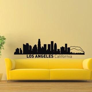 Los Angeles Skyline City Silhouette Vinyl Wall Art Decal Sticker