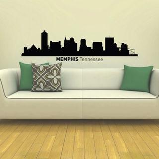 Memphis Tennessee Skyline City Silhouette Vinyl Wall Art Decal Sticker