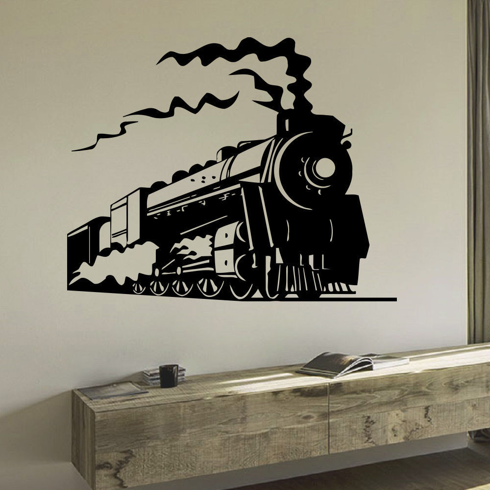 Kids Steam Train Nursery Vinyl Wall Art Decal Sticker (22...
