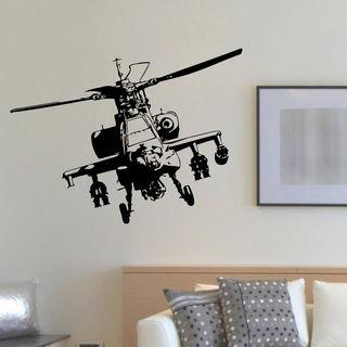 Helicopter Aircraft Aviation Vinyl Wall Art Decal Sticker