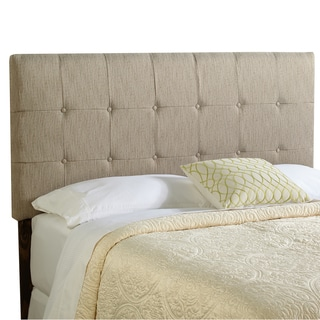Humble + Haute Stratton Queen Size Textured Grey Upholstered Headboard