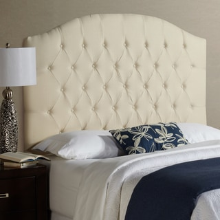 Humble + Haute Halifax Tall Ivory 100-percent Linen Arched Upholstered Headboard