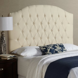 Humble + Haute Halifax Tall Queen Size Ivory 100-percent Linen Arched Upholstered Headboard