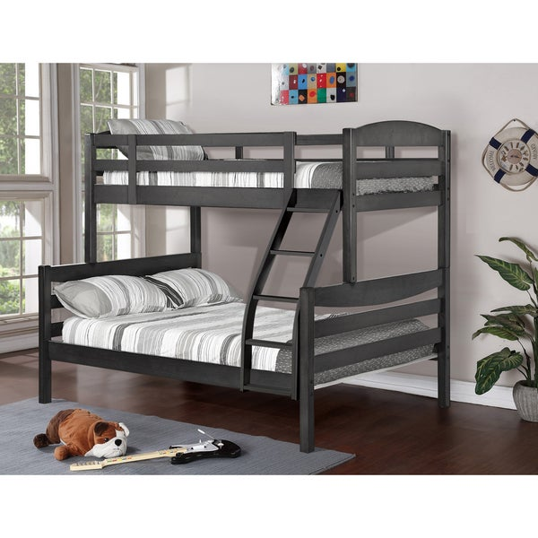 Alissa Twin/ Full Rustic Finished Bunk Bed - Free Shipping ...