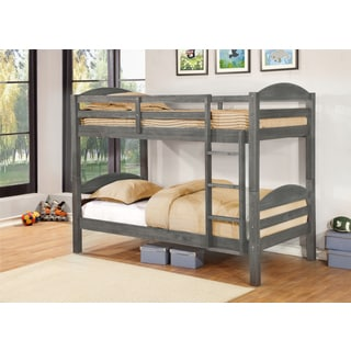 Alissa Twin/ Full Rustic Finished Bunk Bed