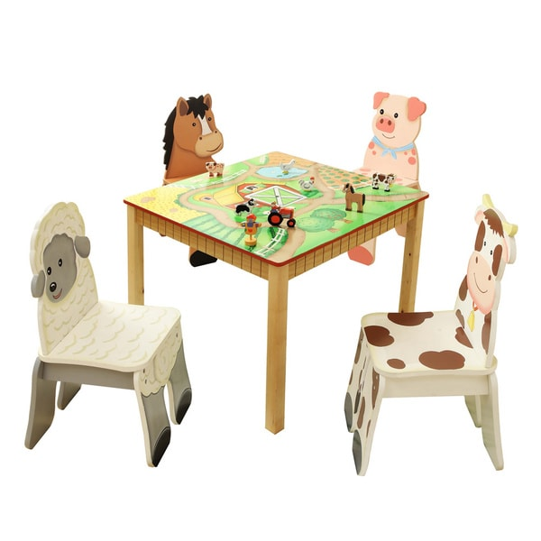 Happy Farm Table & Set Of 4 Chairs