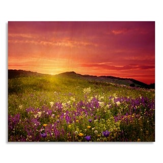 Gallery Direct 'Mountain landscape with flowers'