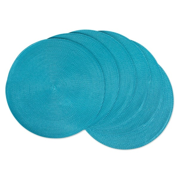 DII Indoor/ Outdoor Round Woven Placemats (Set of 6). Opens flyout.