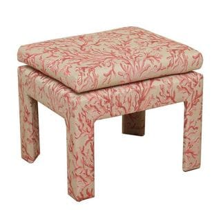 HomePop Pink Coral Decorative Bench