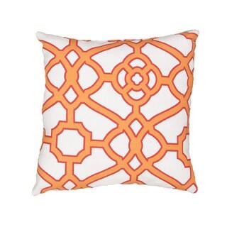 Handmade Geometric Pattern Polyester 18-inch Throw Pillow (Set of 2)