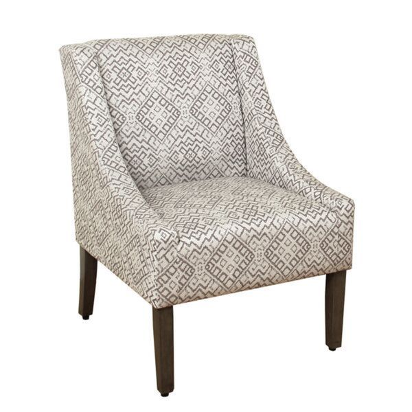 Homepop Swoop Accent Chair In Tonal Gray Free Shipping