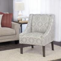 HomePop Swoop Accent Chair in Tonal Gray