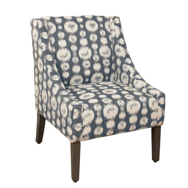 HomePop Swoop Accent Chair In Slate Blue Gray