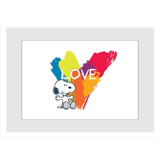 Marmont Hill - Rainbow Love Peanuts Framed Art Print