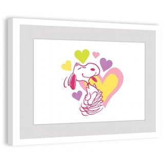 Marmont Hill - Heart Snoopy Peanuts Framed Art Print