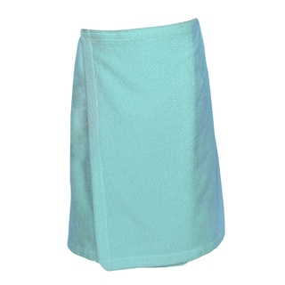 Authentic Hotel and Spa Turkish Cotton Terry Aqua Green Women's Spa and Shower Towel Wrap