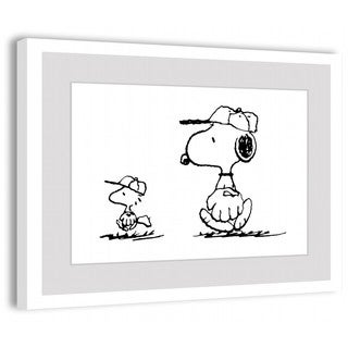 Marmont Hill - Baseball Glove Peanuts Framed Art Print