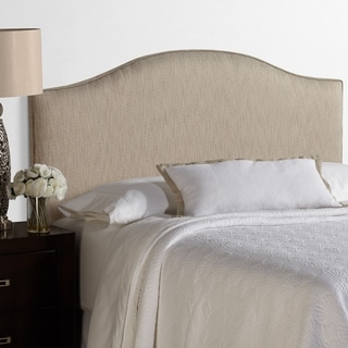 Humble + Haute Bingham King Size Textured Grey Arched Upholstered Headboard