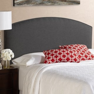 Humble + Haute Bingham King Size Charcoal Curved Upholstered Headboard
