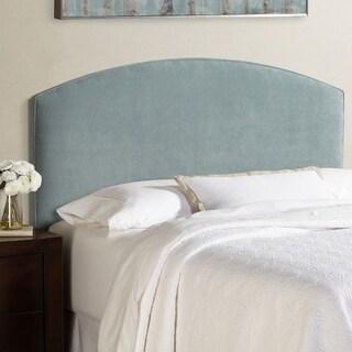 Humble + Haute Bingham King Size Blue Velvet Curved Upholstered Headboard
