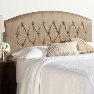 Humble + Haute Halifax King Size Brown Curved Upholstered Headboard