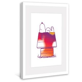 Marmont Hill - Snoopy's Rainbow Home Peanuts Framed Art Print