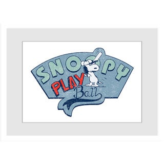 Marmont Hill - Snoopy Play Ball Peanuts Framed Art Print