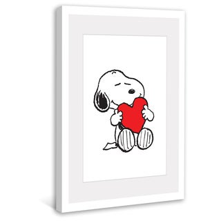 Marmont Hill - Snoopy Red Heart Peanuts Framed Art Print