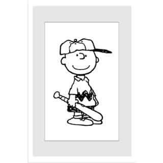 Marmont Hill - Charlie Brown Baseball Player Peanuts Framed Art Print