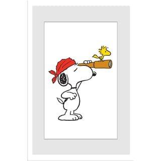 Marmont Hill - Snoopy Pirate Peanuts Framed Art Print
