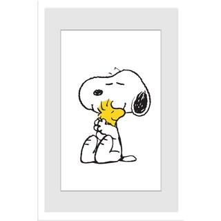Marmont Hill - Snoopy Woodstock Hug Peanuts Framed Art Print