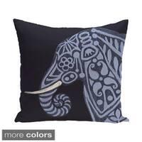 16 x 16-inch Inky Animal Print Pillow