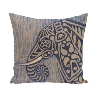 20 x 20-inch Blue, Grey Inky Animal Print Pillow
