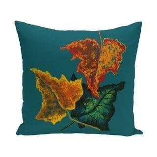 16 x 16-inch Autumn Colors Floral Print Pillow