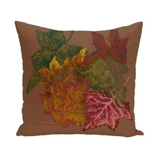 16 x 16-inch Autumn Leaves Floral Print Pillow