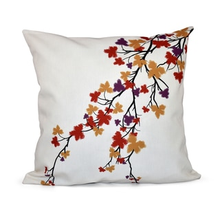 16 x 16-inch Maple Hues Floral Print Pillow