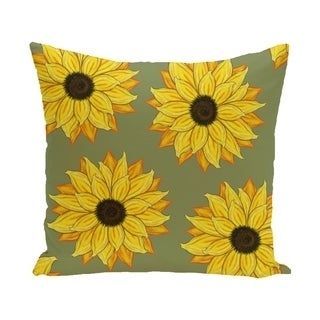 16 x 16-inch SunFloral Power Floral Print Pillow