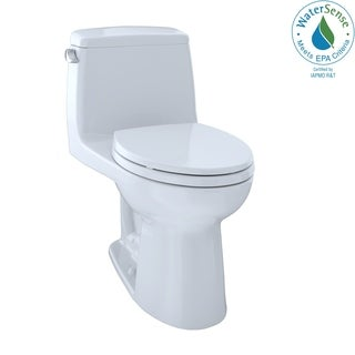 Toto MS854114ELR#01 Cotton White Ultramax Elongated 1-piece Toilet