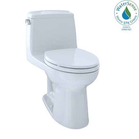 Toto Eco UltraMax One-Piece Elongated 1.28 GPF ADA Compliant Toilet with Right-Hand Trip Lever, Cotton White (MS854114ELR#01)